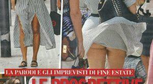 Benedetta Parodi mostra il lato B in pubblico: colpa del vento3