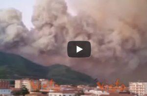 Monte Serra, incendio apocalisse: sfollati, scuole chiuse, ettari bruciati (dall'uomo) VIDEO