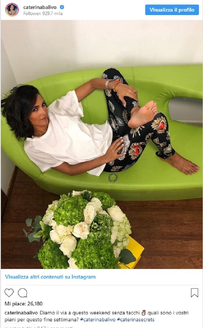 Caterina Balivo piedi Instagram