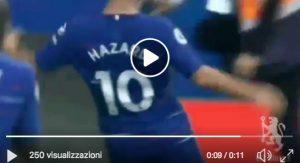 Chelsea-Cardiff 4-1 highlights, Hazard tripletta che vale il primato per Sarri