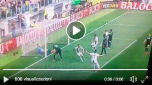Cristiano Ronaldo video gol Juventus-Sassuolo: 1° in Serie A