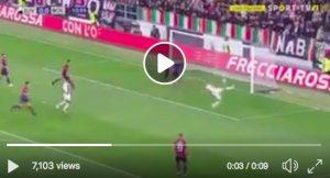Dybala video gol Juventus-Bologna: mezza rovesciata da applausi