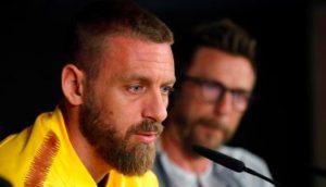 """De Rossi: """"Esonero Di Francesco? Non serve Guardiola per battere Bologna e Chievo..."""""""