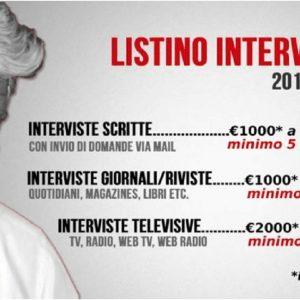 """Beppe Grillo pubblica il tariffario: """"Ecco quanto costa intervistarmi"""""""