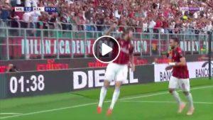 Milan-Atalanta 1-0 highlights, Higuain video gol. Assist di Suso