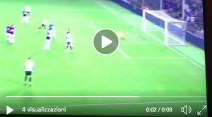 Nainggolan, video gol annullato dal var durante Sampdoria-Inter