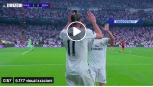 Real Madrid-Roma 3-0 highlights e pagelle, Isco-Bale-Mariano gol. Giallorossi mai in partita