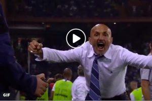 Spalletti espulso per esultanza dopo gol Brozovic in Sampdoria-Inter 0-1 (VIDEO)