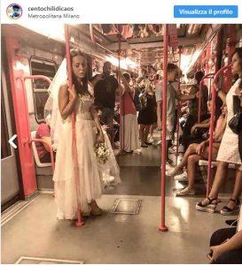 Milano: una sposa triste di bianco vestita si aggira in città. Piange ma non parla, chi è?