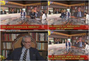 """Vittorio Feltri e i fuorionda esilaranti. La giornalista: """"Ma quanto sta 'mbriaco"""""""