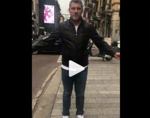 Christian Vieri palleggia con una monetina VIDEO