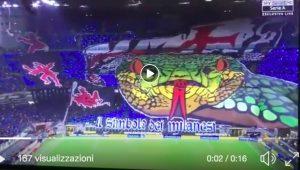 Inter-Milan, striscioni e coreografie del derby di Milano: Biscione protagonista