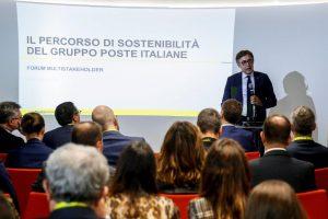 Sostenibilità e responsabilità sociale: Poste Italiane lancia il Multistakeholder Forum . nella foto Giuseppe Lasco