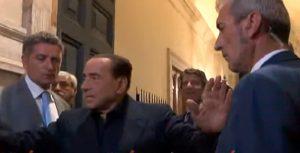 berlsuconi Palazzo Grazioli giornalisti