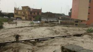 Catania-Gela, bomba d'acqua tra Palagonia e Scordia: bloccato il traffico (foto d'archivio Ansa)