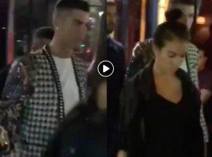 Cristiano Ronaldo e Georgina Rodriguez a Parigi per concerto Jason Derulo (VIDEO)