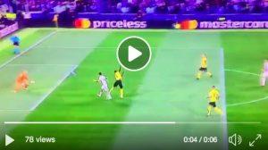 Dybala video gol Juventus-Young Boys, sinistro al volo su assist di Bonucci