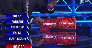L'Eredità, il campione Alessandro sbanca la ghigliottina e vince 40mila euro
