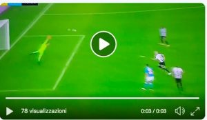 Fabian Ruiz video gol Udinese-Napoli, una rete da cineteca