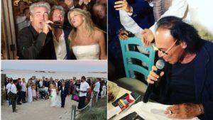 Formentera, alle nozze di Ferdinando Salzano karaoke vip: dai Pooh al duo D'Alessio-Tatangelo