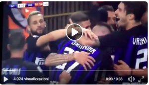 Icardi decide il derby, uscita a farfalle di Donnarumma (VIDEO)