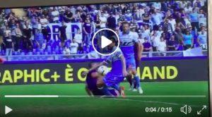 Lazio-Fiorentina, Acerbi su Simeone: per Orsato non è rigore VIDEO