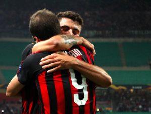 Europa League: Milan rimonta Olympiacos con Higuain e Cutrone. Lazio disfatta a Francoforte