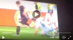 Parolo video gol Eintracht-Lazio, azione viziata dalla mano di Leiva