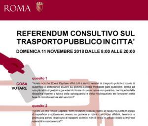 Referendum Atac 11 novembre 2018: come, quando e perché si vota. Quesiti e scheda elettorale