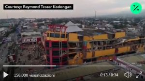 Terremoto Indonesia, il drone riprende le zone devastate a Sulawesi VIDEO (foto Ansa)