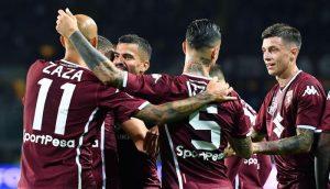 Torino-Frosinone 3-2. Berenguer salva i granata