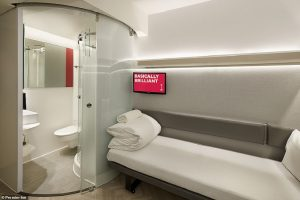 Zip, hotel con stanze-capsula da 8,5 mq a prezzi micro: 22 euro a notte