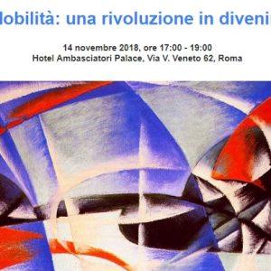 """""""Mobilità: una rivoluzione in divenire"""": evento a Roma il 14 novembre"""