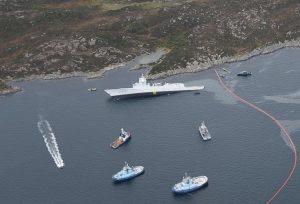 Norvegia, collissione fregata e petroliera 2