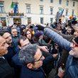 Terra dei fuochi, Salvini contestato a Caserta1