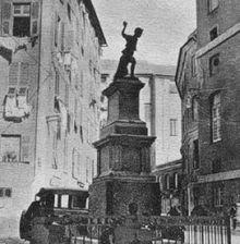 Balilla, quel sasso contro l'oppressore. Genova avamposto d'Italia: ieri gli austriaci oggi Di Maio. Nella foto: il monumento a Balilla