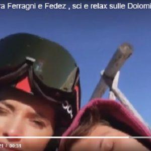 Chiara Ferragni e Fedez, Natale sulla neve: sci sulle dolomiti innevate VIDEO (Vista)