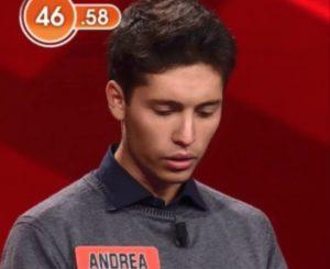 L'Eredità, il concorrente Andrea nel pallone: una semplice domanda gli costa il posto