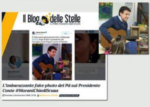 """Giuseppe Conte con la chitarra, Morani (Pd) lo accusa di fingere. Ma la sua è una """"fake photo""""..."""