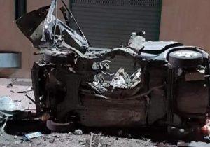 Corato (Bari): bomba esplode sotto all'auto di un carabiniere in periferia