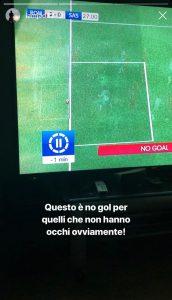 """Roma-Sassuolo, Schick salvato dalla goal line technology. Duncan: """"Vergogna, vittoria decisa prima della partita..."""""""