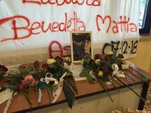 Discoteca Corinaldo, striscione dedicato a vittime
