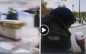 Gilet gialli a Parigi, giornalista SkyTg24 colpita in diretta da un proiettile di gomma VIDEO