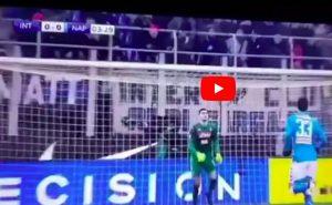 Inter-Napoli highlights video gol youtube Icardi traversa calcio inizio