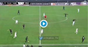 Lazio-Eintracht 1-2 highlights, pagelle, VIDEO GOL: Correa non basta