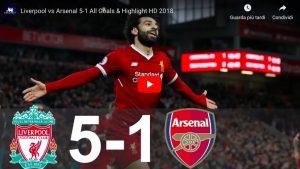 Liverpool-Arsenal 5-1 highlights - VIDEO GOL, Salah e Firmino show