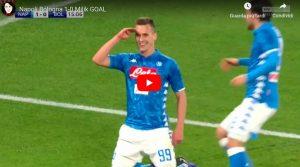 Napoli-Bologna 3-2 highlights e VIDEO GOL, Milik decisivo con doppietta