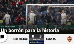 """Real Madrid umiliato in casa dal Cska, la stampa spagnola infierisce: """"Una macchia storica"""""""