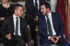 Salvini-Di Maio: erano 37 i mld da distribuire, sono 27. Italia aiutata da...Macron-Merkel! (foto Ansa)