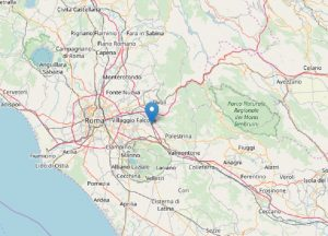 Terremoto Roma, due scosse nella notte. La seconda (più lieve) con epicentro a Colonna (fonte INGV)